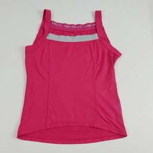 Castelli Tops - Castelli Cycling Tank Stretch Water Pockets Pink